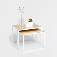GOLD AND SILVER NEST OF TABLES