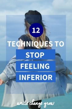 We all feel inferior or insecure at times. Read 12 Techniques to stop feeling inferior to help you through those moments. Self Development, Personal Development, Confidence Tips, Confidence Building, Building Self Esteem, Feeling Insecure, Self Compassion, Low Self Esteem, Self Improvement Tips