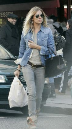 e1bfaa604f0 Sienna Miller Style and Fashion - Genetic Denim Shane Recessive Cigarette  Jean in Silver on Celebrity Style Guide