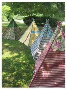 My hubby wants to camp out in backyard with the kids. I think this is an awesome idea to make a attractive and fun tent for the kids! Oh the projects are lining up! The sewing machine will get some attention again ;)