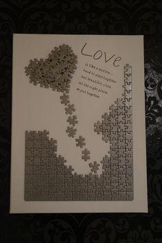 Endlich hab ich eine vernünftige Verwendung für die ganzen Kinderpuzzle gefunden :-)