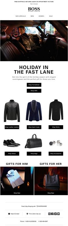 Awesome cinemagraph in this Hugo Boss email