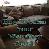 Homemade Mamas: How to Clean Your Microfiber Couch