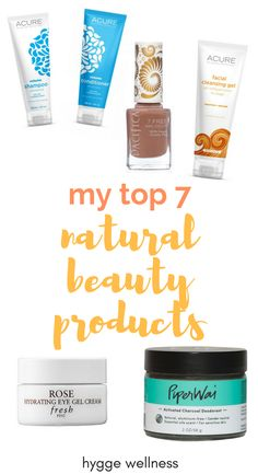 Ever wonder what's hiding in your beauty products? Me too! If you're looking for natural beauty products that actually work, look no further! I'm naming all my favorite tried-and-true natural beauty products/ organic beauty products over on my blog! My 7 Favorite Natural Beauty Products https://hyggewellness.com/blog/my-7-favorite-natural-beauty-products/