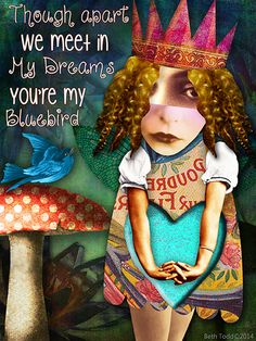 'You're My Bluebird' created by Beth Todd©2014 using images from Tumble Fish Studio and Crowabout StudioB http://www.deviantscrap.com/shop/