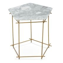 Ricko White Marble Side Table
