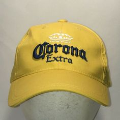 71ee3ce8e05 Corona Extra Beer Hats For Men Cool Dad Hat Yellow Blue Baseball Cap T11  F9009