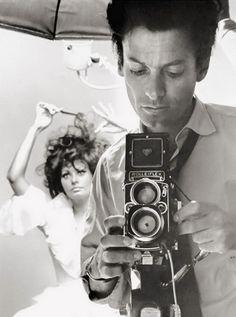 Richard Avedon and Sophia Loren, c.1960.