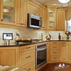 This is not your momma's maple! Check out these maple kitchens for modern times. Classic Kitchen Cabinets, Distressed Kitchen Cabinets, Contemporary Kitchen Cabinets, Kitchen Cabinet Styles, Maple Kitchen, Custom Kitchens, Modern Times, Kitchen Design, Kitchen Remodeling