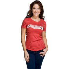 Cleveland Indians Women's Nike Red Heather Blended T-Shirt