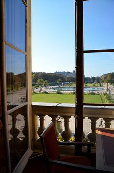 From the Sénat library, looking out on the Jardin du Luxembourg