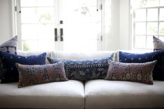 LoVe these pillows AND the placement, Moroccan pillows, Moroccan style for the home,