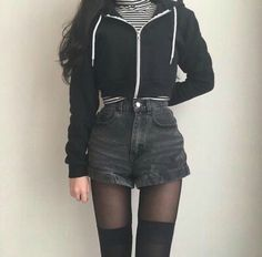 Really like korean fashion outfits Edgy Outfits, Korean Outfits, Grunge Outfits, Grunge Fashion, Cute Fashion, Cool Outfits, Fashion Outfits, Fashion Shoes, Fashion Ideas