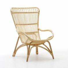 SIKA-Design Originals Sessel Monet Natural mit hoher Lehne und Kissen...