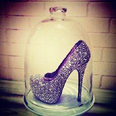 Purple Jeweled Heels | Tsaa Heel