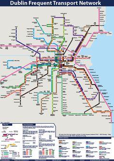 map of public transport #Dublin