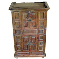 19th Century Unusual Indian Wood Cabinet | From a unique collection of antique and modern furniture at https://www.1stdibs.com/furniture/asian-art-furniture/furniture/