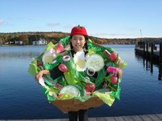 Salad Costume Halloween Costumes To Make, Ghost Costumes, Halloween Costume Contest, Halloween Kostüm, Baby Costumes, Costume Ideas, Food Costumes For Kids, Ghost Costume Kids, Homemade Costumes