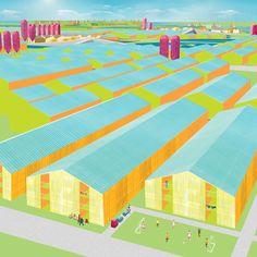 ADS2 2013-14 City Limits : DK-CM Axonometric Barn City Graphic Illustration Color Scheme
