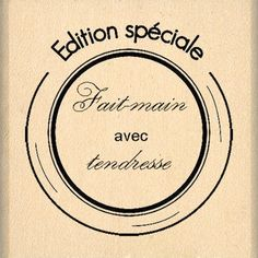 Floril/èges Design FD208026 Tampon Scrapbooking D/éclaration Beige 7 x 4 x 2,5 cm