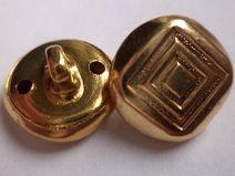 12 METALLKNÖPFE gold 14mm (1485-8) Knöpfe Metall