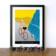 PERSONALISED Bike Art: Customisable Jersey, Name, Race Number, Hair, Eye and Bike Colour - Breakaway
