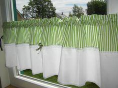 Gardinen - Gardine Scheibengardine Streifen - ein Designerstück von schmetterling06 bei DaWanda