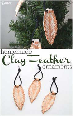 Clay Feather Ornaments