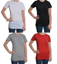 Alternative Apparel Crew Neck Tshirts Long Juniors 3pk Set of 3 Soft Colors NEW #Alternative #BasicTee