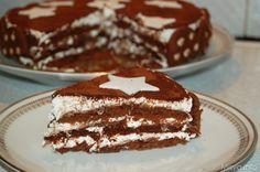 La torta Pan di stelle e' un  dolce supergoloso composto da un'alternanza di strati di biscotti Pan di stelle imbevuti nel latte, nutella e panna montata,una