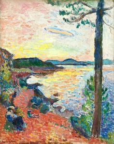 The Gulf of Saint-Tropez, 1904 - Henri Matisse - Oil on canvas; 25 5/8 x 19 7/8 in. (65.1 x 50.5 cm)