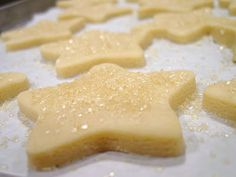 Lick The Bowl Good: Day 1- Glittery Shortbread Stars