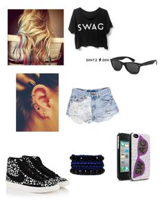 """""""Sem título #84"""" by malena-336 ❤ liked on Polyvore featuring Urban Eclectics, NIKE, Justin Bieber, Ray-Ban and Venessa Arizaga"""