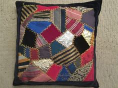 Crazy quilts from recycled men's ties