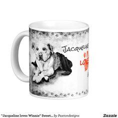 """Jacqueline loves Winnie"" Sweethearts Coffee Mug"