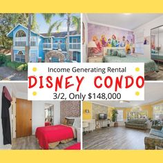 Disney Princess and Harry Potter Wizard decorated Florida condo also has a Beauty and the Beast Master Bedroom and old Disney inspired living room. Available for sale or just for decorating inspiration Harry Potter Wizard, Condo Decorating, Old Disney, Condos For Sale, Disney Inspired, Beast, Master Bedroom, Florida, Living Room