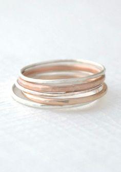 Mixed stacking rings