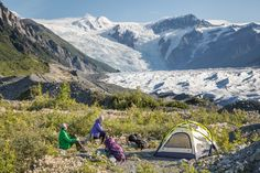 Camping along the Root Glacier  | Wrangell - St. Elias National Park & Preserve (pinned by haw-creek.com)