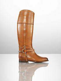 Ralph Lauren Sandra Calf Chain Riding Boot
