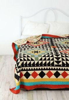 Colorful bed spread