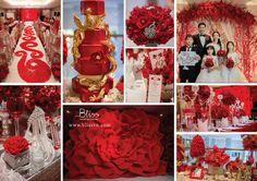 Stunning Velvet Wedding by Bliss Wedding Planner  #wedding #weddingplanner #weddingplannervietnam #weddingplannersaigon #weddingplannerhcm #blissweddingplanner #redwedding