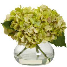 Green Hydrangea Floral Arrangement
