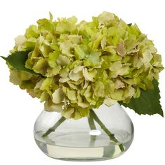 "Capturing a blooming hydrangea in all of its glory, this wonderful silk arrangement will add a touch of sunshine to any area. Standing a compact 8.5"" high, it's not too big, nor too small, but just ri"