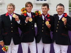 Nick Skelton, Ben Maher, Scott Brash and Peter Charles won gold in the showjumping