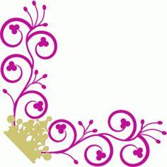 Silhouette Design Store - View Design #64621: crown corner flourish