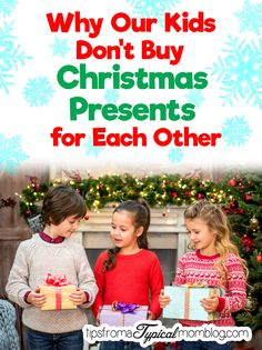 Why Our Kids Don't Buy Each Other Christmas Presents. And learn how your family can serve others this Christmas Season. #LightTheWorld #GoodGoesRound #Onemillionactsofgood