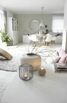 Deko Vasen offener Wohnraum kreativ gestalten