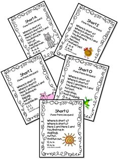 "Hello Everyone! I am gearing up for some seriously Wonderful Word Work during Daily 5 this coming week. We'll be introducing our ""chunks"". Vowel Song, Phonics Song, Phonics Words, First Grade Songs, First Grade Phonics, Kindergarten Reading, Teaching Reading, Guided Reading, Teaching Ideas"