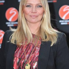 Jodie Kidd wears a multiple pendant Marie Necklace