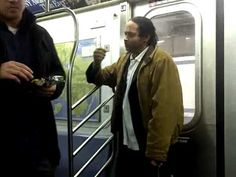 Man Casually Eating Bag Of Chips Breaks Up Fight On Subway.